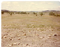 The barren, rocky field before construction...
